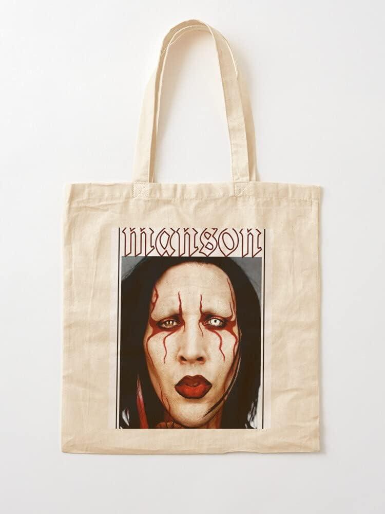 Générique Trend Charles Movie TV Film Movies Show Manson Cinema   Bolsas de lona con asas, bolsas de la compra de algodón duradero