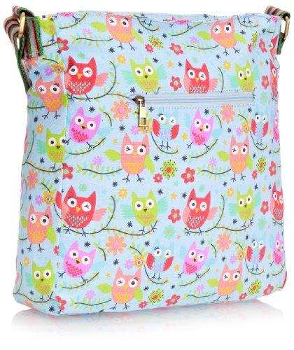 SWANKYSWANS® Millie Winking Owl Crossbody Bag BL, Portafoglio bambina