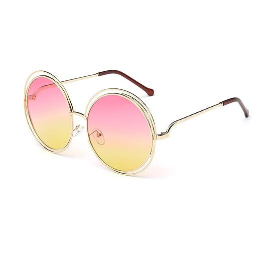 LUFA Degli occhiali da sole rotondi Donne Uomini Specchio Occhiali Hollow metallo 1cNDg6cy
