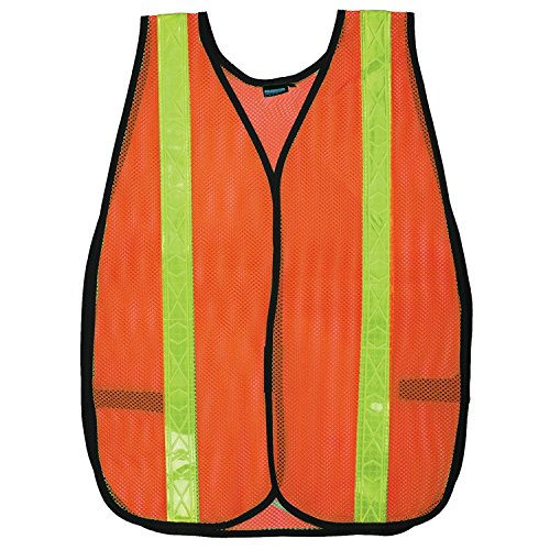Lightweight Economy Safety Vest - ERB 14601 S18R Non-ANSI Reflective Economy Safety Vest, Orange