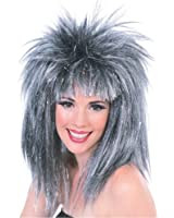 Rubie's Costume Silver Glitter Diva Wig with Tinsel