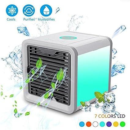 TY&WJ Enfriador de Aire Mini Portable Refrigerador de Agua para la Oficina Dorm Nightstand Ventilador de Escritorio Aire Acondicionado-Blanco 17x17x17cm(7x7x7): Amazon.es: Hogar