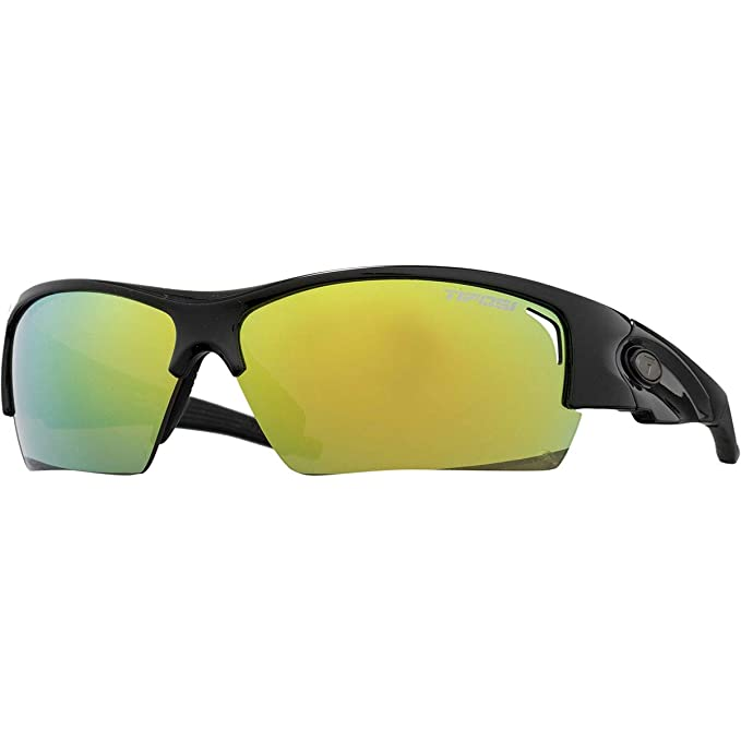 6a88531c389 Tifosi Lore Sunglasses Gloss Black   Clarion Yellow   AC Red   Clear One  Size