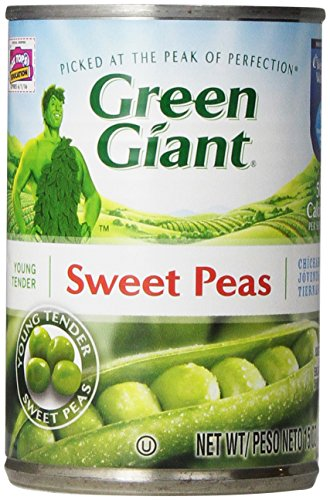 Green Giant Sweet Peas, 15 Ounce (Pack of 4)