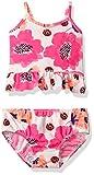 Osh Kosh Baby Girls' Large Flower Tankini Swimsuit Set, Pink, 18 Months