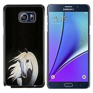 - WHITE BLACK HORSE GREY ART PAINTING - Caja del tel¨¦fono delgado Guardia Armor- For Samsung Note 5 N9200 N920 Devil Case