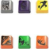 LeagueKeys Custom MOBA Keycaps for Mechanical Keyboards, set of 6