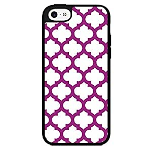 Purple Print Hard Snap on Phone Case (iPhone 5c)