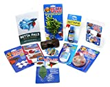 Betta Fish Accessories Bundle with Betta Food, Water Conditioner, Guide Book, And Accessories 10 Items
