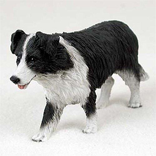 Border Collie Statue - Ky & Co YesKela Border Collie Hand Painted Collectible Dog Figurine