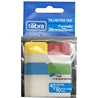 Tili Notes Tag 38mmX25mm 40 Folhas - 4 Cores, Tilibra