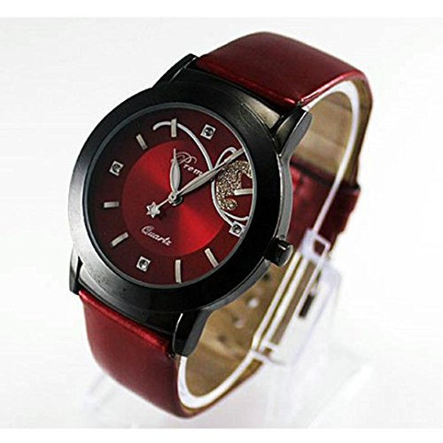 Women's Brown Roman Classic Synthetic Leather Strap Watch - 5