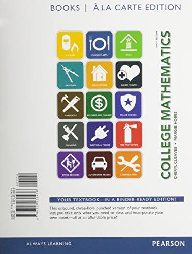 College Mathematics, Books a la Carte Edition (9th Edition)