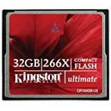 Kingston CF/32GB-U2 Scheda CompactFlash Ultimate 266x, 32 GB