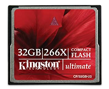 Kingston CF/32GB-U2 - Tarjeta de Memoria CompactFlash Ultimate de 32 GB, 266x