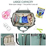 Land Green Diaper Bag for Mom Dad Roomy Large