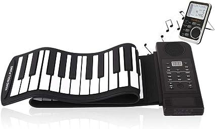 Teclado De Piano Enrollable Plegable, 61 Teclas Portátiles ...