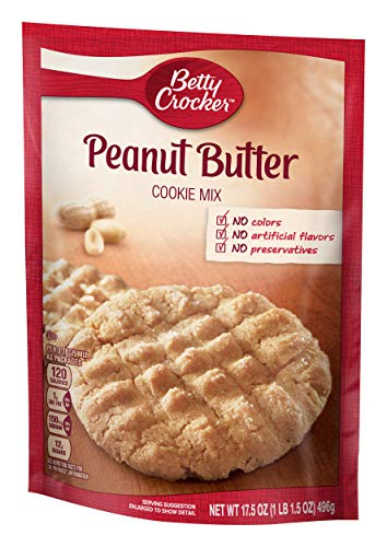 Betty Crocker Baking Mix, Peanut Butter Cookie Mix, 17.5 Oz Pouch ()