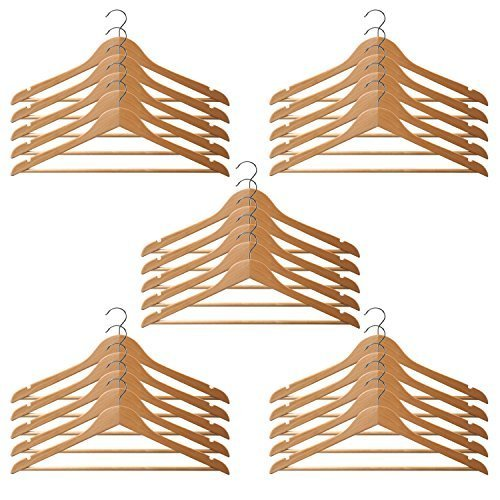 New Filstraw Continous Promtion!!!Premium Wooden Hangers Wood Suit Hangers (20 Pack) - Premium Quality Wooden Coat Hangers - Strong and Durable Suit Hangers - Natural supplier