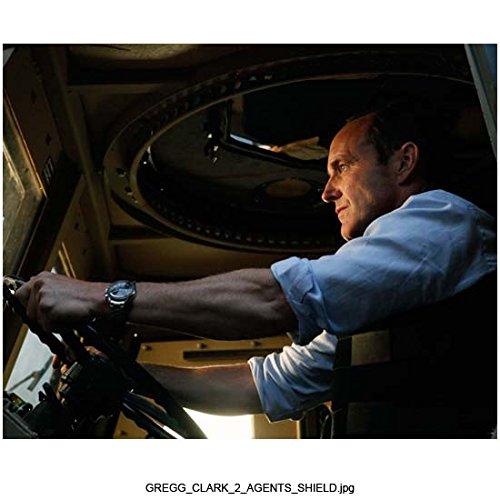 Agents of S.H.I.E.L.D. (TV Series 2013 - ) 8 inch x 10 inch Photo Clark Gregg Blue Shirt Driving Big Rig kn (Blue Rig)