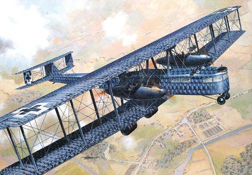 Roden Zeppelin Staaken R.VI German Heavy Bomber Airplane Model Kit