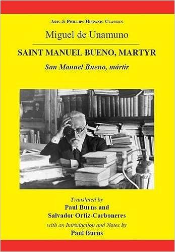 Amazon.com: Miguel de Unamuno: Saint Manuel Bueno, Martyr ...