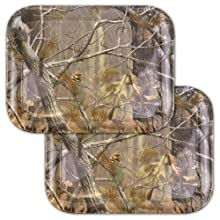 DII Real Tree Melamine Serving Trays, Set of 2