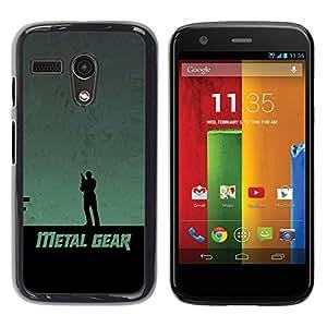 Stuss Case / Funda Carcasa protectora - Metal Gear - Motorola Moto G 1 1ST Gen