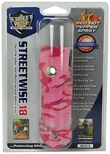 Streetwise Security Products Lab Certified Streetwise 18 Pepper Spray, 1/2-Ounce Soft Case, Pink Camo Review