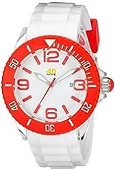 40Nine Unisex 40NINE02/RED3 Large White Watch