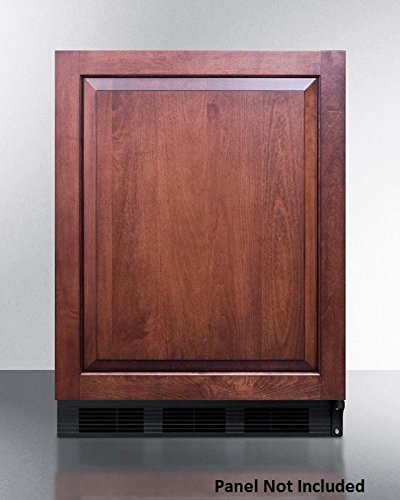 Summit CT663BBIIFADA Series 24 Inch Freestanding Counter Depth Compact Refrigerator in Panel (Summit Glass Undercounter Refrigerator)