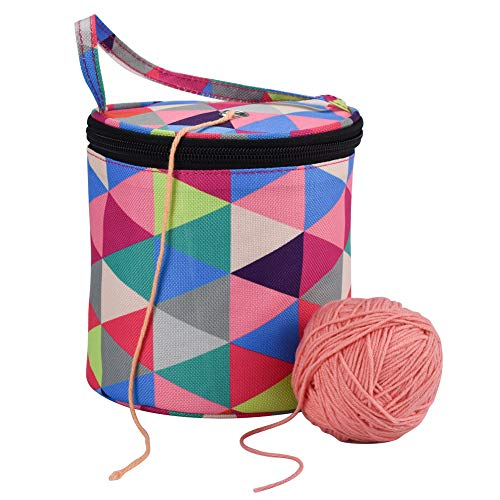 Crocheted Wool Hand - DishyKooker Small Size DIY Knitting Printing Storage Bag with Handle for Hand Crocheted Wool Sweater Crochet Tool