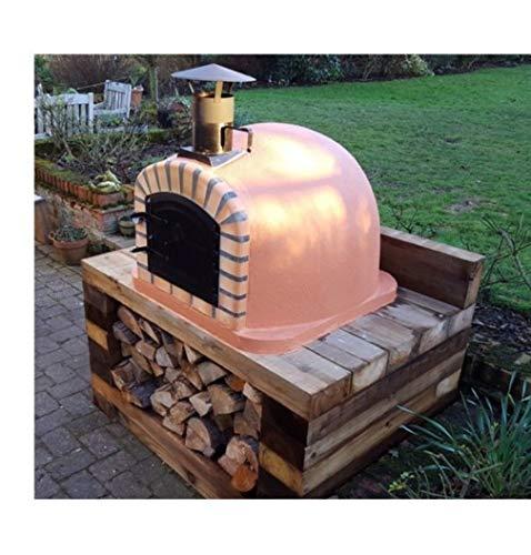 Barbecues, Grills & Smokers Brick Outdoor Wood Fired Pizza Oven 90cm Brown Italian Model Reasonable Price Yard, Garden & Outdoor Living