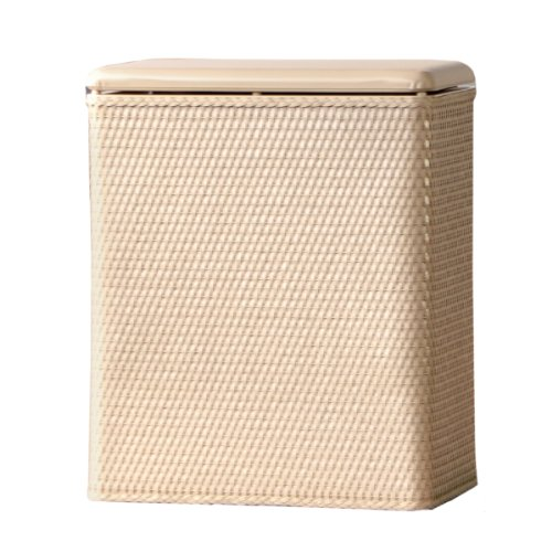 pright Wicker Laundry Hamper with Coordinating Padded Vinyl Lid, Linen (Bath Pop Up Hamper)