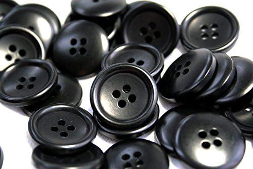 ナットボタン538(COLOR.09ブラック)23mm 紳士服スーツジャケットコートボタン