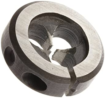 Union Butterfield 2710M High-Speed Steel Round Threading Die, Uncoated (Bright) Finish, M2-0.4 Thread Size