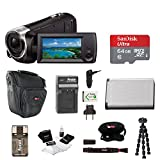 Focus Camera Sony HD Video Recording HDRCX405 HDR-CX405/B Handycam Camcorder (Black) + 64GB Premium Bundle