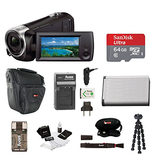 - Sony HD Video Recording HDRCX405 HDR-CX405/B Handycam Camcorder (Black) + 64GB Premium Bundle