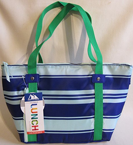Arctic Zone: Charlotte Lunch Tote (Green-Navy Stripe)