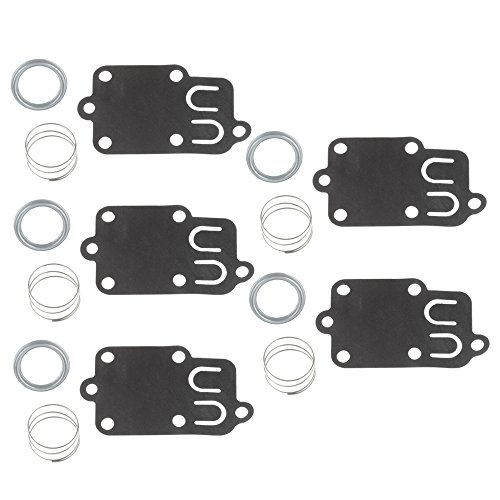 Diaphragm Carburetor (Buckbock 5PCS Carburetor Diaphragm Gasket kit for 2hp Thru 5hp Engines Briggs & Stratton 270026 272538 272538S 272637 4157 4168 5021 5021K 690766 221377 Spring Cap)