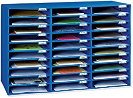 "Classroom Keepers Mailbox, 30-Slot, Blue, 21""H x 31.625""W x 12.75""D"
