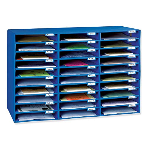 Pacon PAC001318 Classroom Keepers 30-Slot Mailbox, Blue