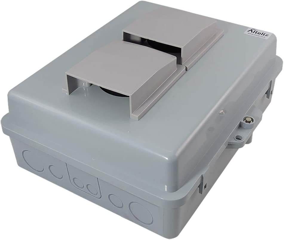 """Altelix Vented NEMA Enclosure 14x11x5 (12"""" x 8"""" x 4.1"""" Inside Space) Polycarbonate + ABS Weatherproof NEMA Box"""