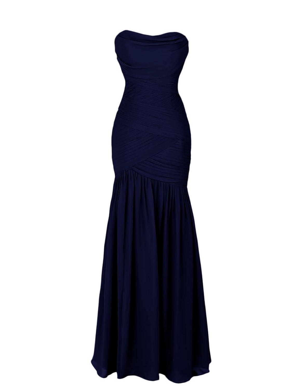 Dressystar Brief Elegant Mermaid Sweetheart Bridesmaid Evening Dresses Chiffon