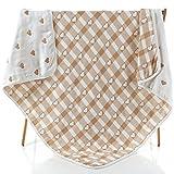 Baby Gauze Blanket/Comforter/Swaddle Boys Girls Bed Quilt 100% Muslin Cotton 6 Layered Crib Dream Blankets for Newborn Toddler Kids