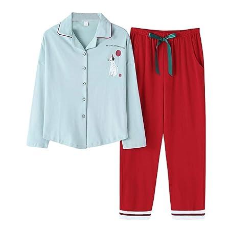 baijuxing Pantalones de Pijama de algodón de Manga Larga para ...