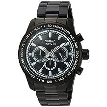 Invicta Men's 'Speedway' Quartz Stainless Steel Automatic Watch, Black (Model: 21815)