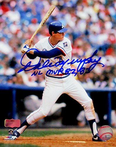 - Dale Murphy Autographed/Signed Atlanta Braves Throwback Chief Nocahoma Jersey 8x10 MLB Licensed Photo with