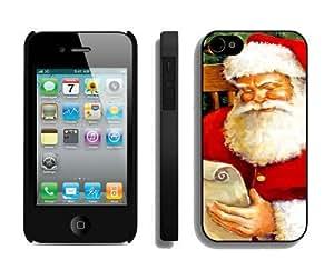 New Design Santa Claus Christmas iPhone 4 4S Case 3 Black