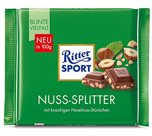 - Ritter Sport Hazelnuts Chocolate Bar Candy Original German Chocolate 100g/3.52oz